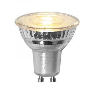 3-stufige dimmbare GU10 LED, transparent, 4,4W Warmweiß (3000k)