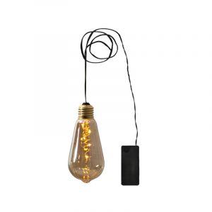 Amber Edison Lampe, batteriebetrieben