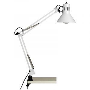 Weiße Schreibtischleuchte Katey, Metall, Mit Schalter