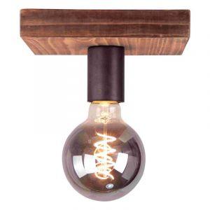 Industrie Deckenstrahler Spike, braun, Holz