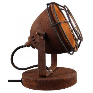 Industrie Tischlampe Adie, rostfarben, Metall, Ein/Ausschalter am Kabel