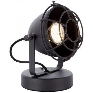 Industrie Tischlampe Indy, schwarz, Metall, Ein/Ausschalter am Kabel