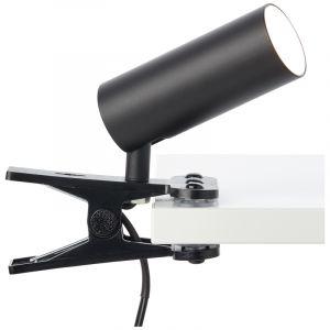 Moderne Klemmlichte Annelise, schwarz, Metall, 4,5w 4000K (Weiß) integriert LED