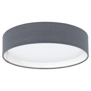 Graue Deckenleuchte Vienne, Stoff, 12w Warmweiß integriert LED