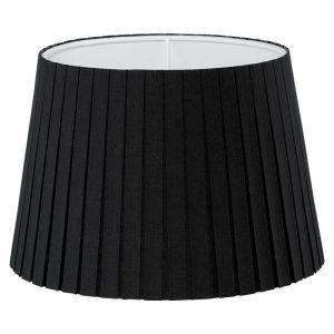 Schwarze Lampenschirm Noah, Stoff, klassisch