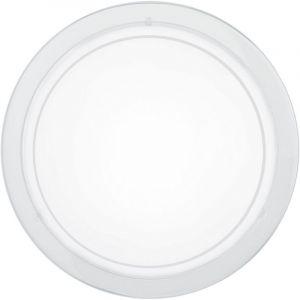 Weiße Deckenleuchte Agena, Glas
