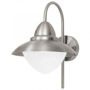 Silberne Außen Wandleuchte Danni, Glas, klassisch, IP44
