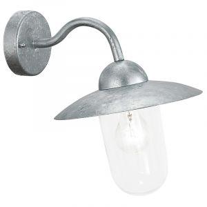Silberne Außen Wandleuchte Emira, Glas, industrie, IP44