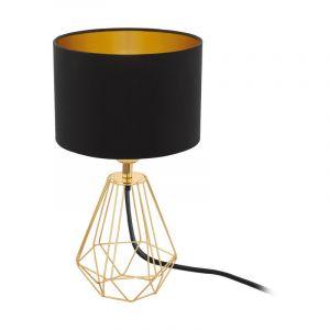 Messing Tischlampe Assia, Stoff, retro, Ein/Ausschalter am Kabel