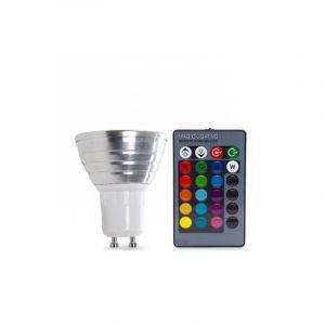 Dimmbare GU10 LED Lampe RGB, 3w RGB (Alle Farben)