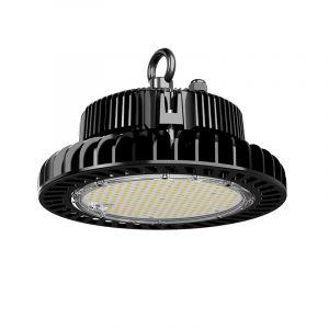 Schwarze Highbay Lampe Pro Destil, Metall, 200w Tageslicht Weiß integriert LED