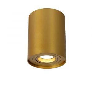 Goldene Aufbaustrahler Tube, Aluminium, modern
