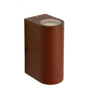 Rostfarbene moderne Außen Wandleuchte Boogy, Aluminium, IP44