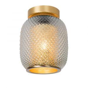 Goldene Deckenleuchte Agathe, Glas, vintage