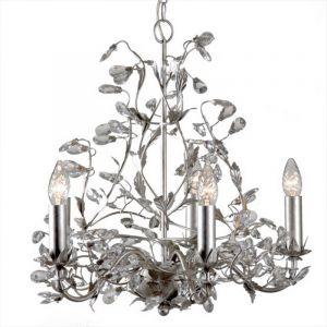 Silberne klassische Kronleuchter Jeftha, Metall