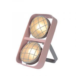 Pink Tischlampe Renger, Stahl, modern, Ein/Ausschalter am Kabel