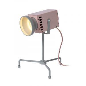 Pink Tischlampe Beamer, Stahl, modern, Ein/Ausschalter am Kabel