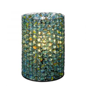 Transparente Tischlampe Extravaganza Marbelous, Glas, retro, Ein/Ausschalter am Kabel