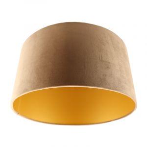 Taupe Lampenschirm Milene, Stoff, modern