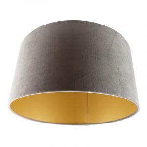 Graue Lampenschirm Milene, Stoff, modern