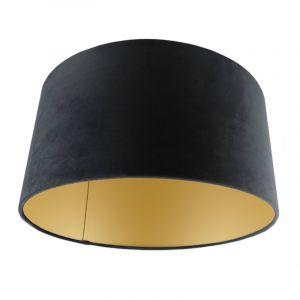 Schwarze Lampenschirm Melanie, Stoff, modern