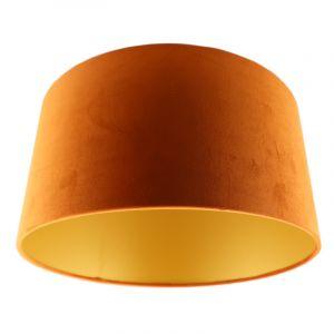 Orange Lampenschirm Melanie, Stoff, modern