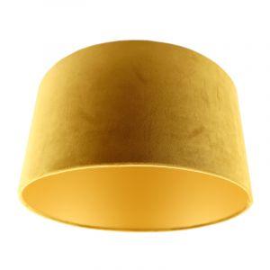 Gelbe Lampenschirm Melanie, Stoff, modern