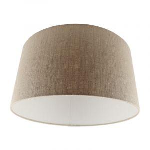 Braune Lampenschirm Melanie, Stoff, modern