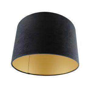 Schwarze Lampenschirm Madelyn, Stoff, modern