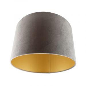 Graue Lampenschirm Madelyn, Stoff, modern