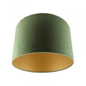 Grüne Lampenschirm Madelyn, Stoff, modern