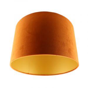 Orange Lampenschirm Madelyn, Stoff, modern