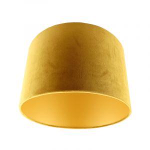 Gelbe Lampenschirm Madelyn, Stoff, modern