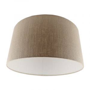 Braune Lampenschirm Madelyn, Stoff, modern