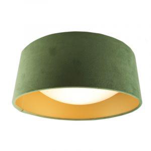 Grüne Deckenleuchte Dewy, Stoff, modern
