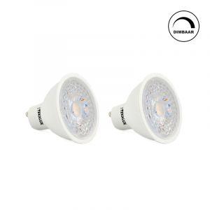 Dimmbare weiße GU10 LED Lichtquelle Antonie, 5w, Warmweiß (2x)