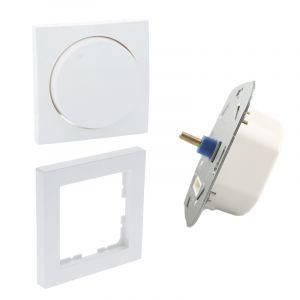 LED dimmer, 5 - 150W, mit weiße Abdeckrahmen und Zentrallplatte