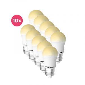 10er Pack Tekalux Horan E27 LED-Kugellampe warmweiß, 4W