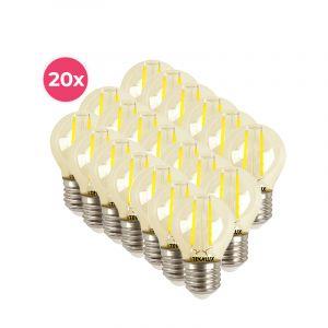 20er Pack dimmbare Tekalux Melchis E27 LED Kugel, 4w warmweiß
