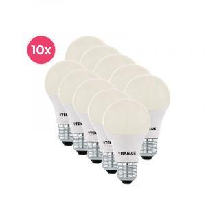 10er Pack Tekalux Cenor E27 A60 LED Lampe warmweiß, 9W