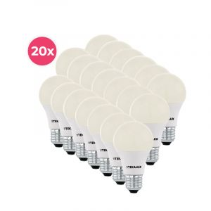 20er Pack Tekalux Cenor E27 A60 LED Lampe warmweiß, 9W