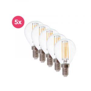5er-Pack Dimmbare Tekalux Sorna E14 LED-Lampe, 2700k, 3,5w