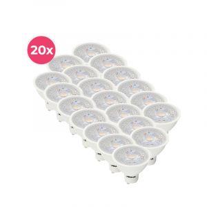 20er Pack weißer GU10 LED Spot Antonie, 5 Watt, 2700K (Warmweiß)