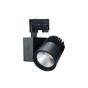 Schwarze 3-Phasen-Schienensystempunkte Eltex, Aluminium, 18w Extra Warmweiß integriert LED