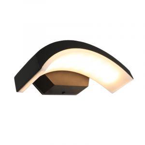 Schwarze Außenleuchte Annemay mit integrierter LED