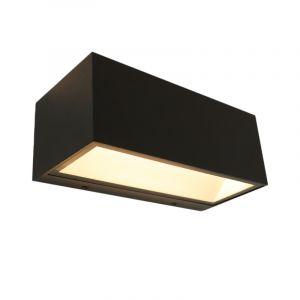 Schwarze Up/down Außenleuchte Cailey mit integrierter LED, klein