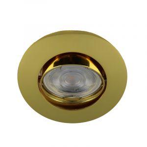 Moderne Mini Einbaulstrahler Lenx, gold, Aluminium