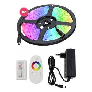 1 Meter wasserabweisendes 12V RGB LED Streifen mit Touch-Fernbedienung, 30 LEDs und p 7.2W / m