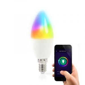E14 Wifi Smart LED Lichtquelle, alle Farben und warmes Weiß