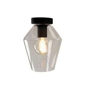 Schwarze Deckenleuchte Giada, Glas, design